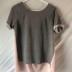 Grey and tan blouse